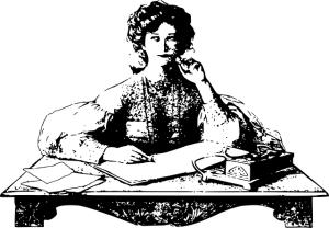 girl-writing-cartoon