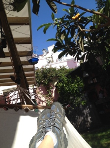 the hammock-view of the Alfama Patio Hostel